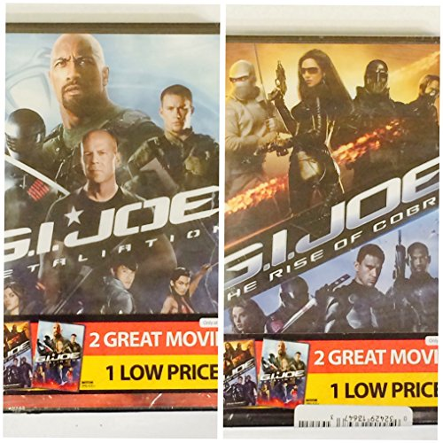 GI JOE RETALIATION and RISE OF COBRA 2-Pack DVD Movies ** BOTH DVD Movies TOGETHER **