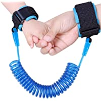 JISNEY Baby Child Anti Lost Wrist Link Safety Harness Strap Rope Leash Walking Hand Belt Band Wristband for Toddlers Kids (2.5m Blue)