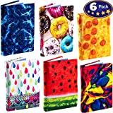 Stretchable Book Cover Design Packs. Fits Most Hardcover Textbooks up to 9 x 11. Our Nylon Fabric Protector Set is A Needed School Supply for Students. Washable and Reusable (6 Pack, Prints Ultra)