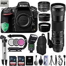 "Nikon D810 36.3MP 1080P DSLR Camera w/ 3.2"" LCD - Wi-Fi & GPS Ready - 7 fps + 4 Lens - 21 to 600mm - 128GB- 20PC Kit - Nikon 50mm 1.8D - Sigma 150-600mm F5-6.3 DG OS HSM - 2.2x - 0.43x + 3YR Warranty"