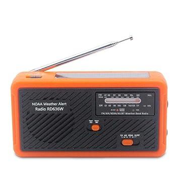 Hellycuche Portable Wind Up Solar Manual Radio de ...