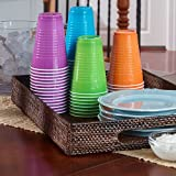 Hefty Party On Plastic Party Cups (Assorted Colors - Amethyst, Neptune Blue, Paprika, and Apple Green - 16 Ounce, 100 Count)