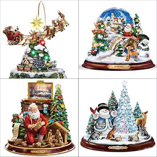 - 4 Pack 5D DIY Diamond Painting Kits Snowman Santa Claus Full Drill Rhinestone Embroidery Cross Stitch Painting for Christmas Home Decor