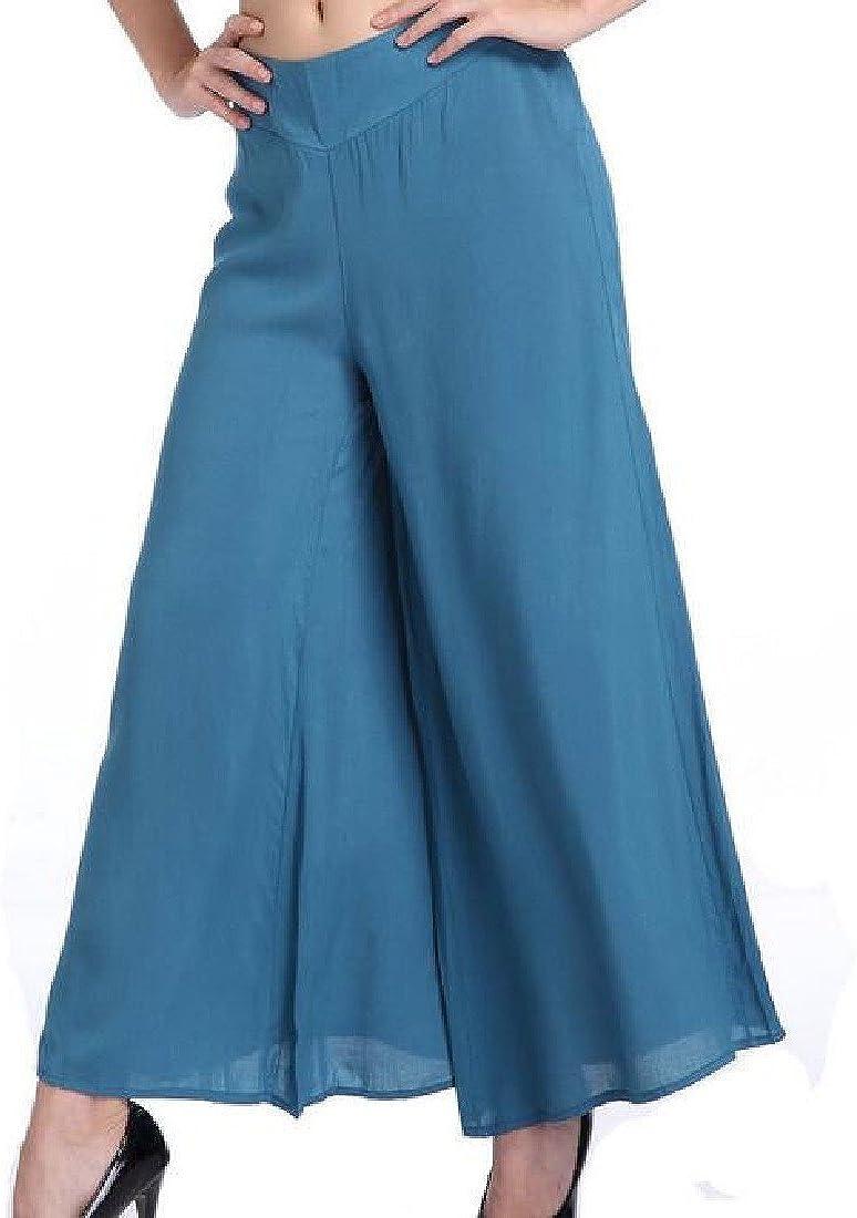 cheese Womens Casual Cotton Loose Longline Palazzo Beach Pants