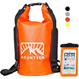 Mounteen - Waterproof Backpack Keeps Gear Dry for Kayaking, Swimming, Boating, Fishing, Water Sports&Camping, Hiking with Marine Grade Secure Sack and Lightweight Waterproof Phone Case