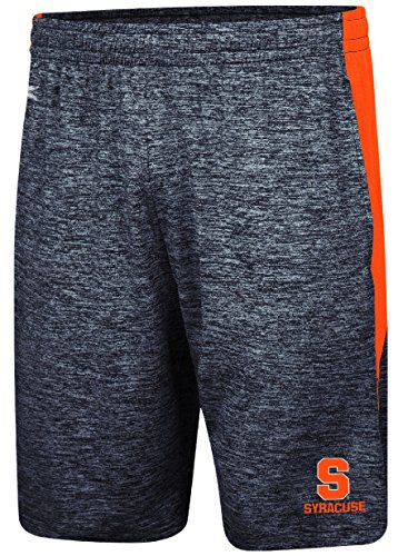 Syracuse Orange Mens Heather Blue Fundamentals Polyester Shorts (L=35/38) (Mens Shorts Syracuse)