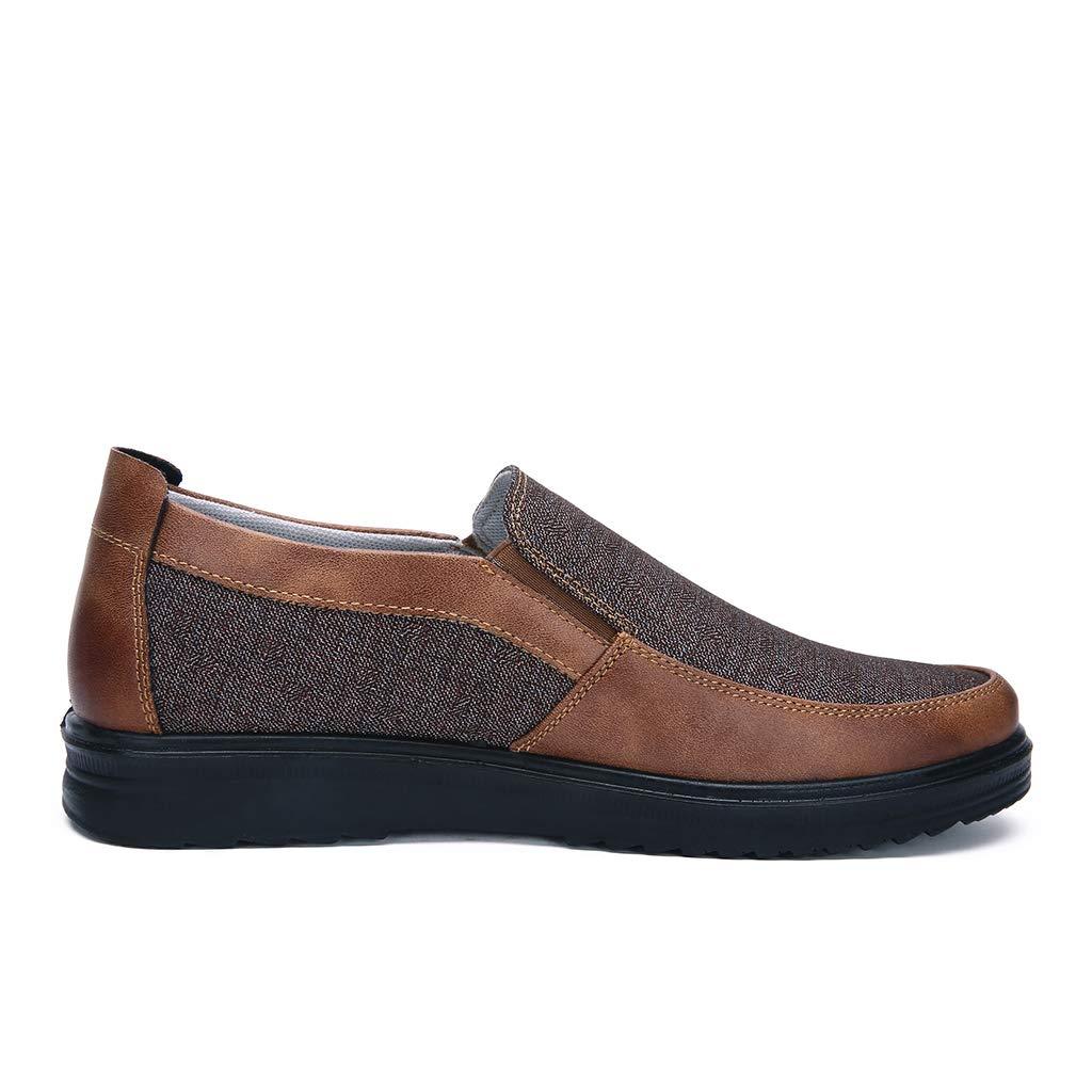 Printemps et /ét/é Mode r/étro Affaires d/écontract/é Doux Bas Confortable Plat Chaussures pour Hommes,a,38 LXJL Chaussures de Sport Casual pour Hommes