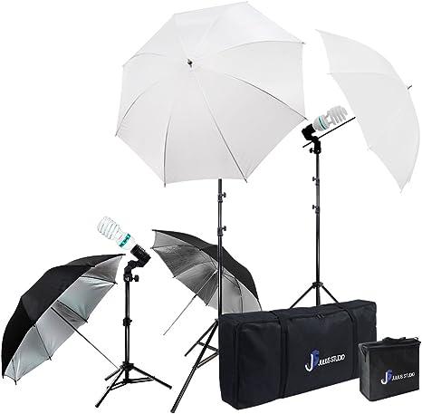 Light Stand Tripod JSAG1 Julius Studio Photography Photo Studio Video Portrait Lighting Kit White Umbrella Reflector Continuous Bulb /& Socket with Umbrella Insert Carry Bag
