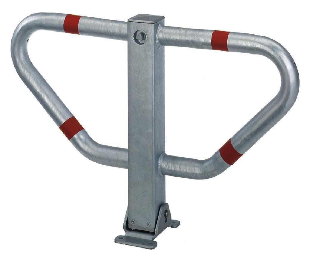 zum Einbetonieren Profilzylinderschloss GAH-Alberts 770099 Parkplatzb/ügel Stoppy II 450 x 750 mm feuerverzinkt mit roten Ringen