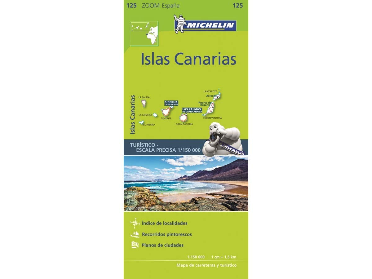 Mapa Zoom Islas Canarias (Mapas Zoom Michelin): Amazon.es: Vv.Aa, Vv.Aa: Libros