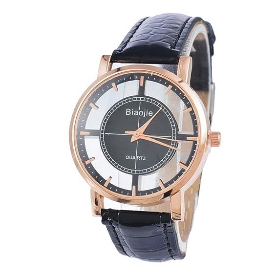 duseng Reloj de pulsera para mujer analógico con caja registradora rontonda de oro rosa reloj pulsera