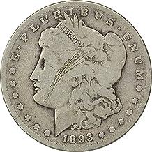 1893 S Morgan Dollar G (Good), Scratches on Obverse