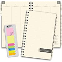 """Essential 5""""x8"""" Monthly & Weekly 2021 Planner with Tabs Professional, Simple, Easy-to-Use Design. Frosted Vinyl Covers…"""