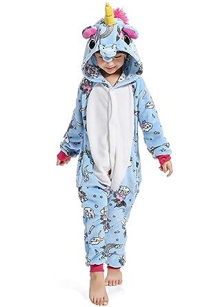 0cd11bb4d JYSPT Kinder Einhorn Strampler Pyjama Fluffy Flanell Nachtwäsche ...