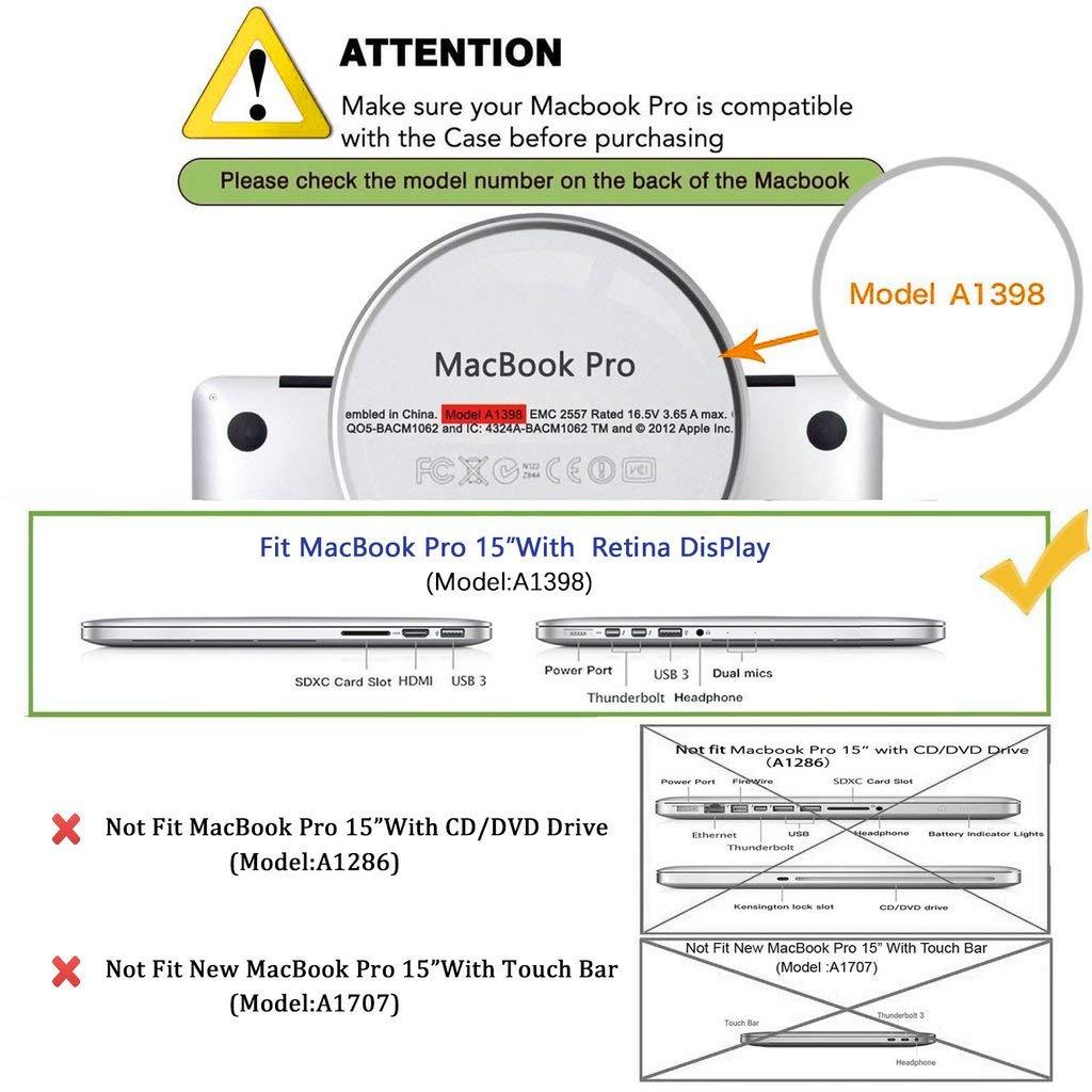 Gehirn KECC H/ülle f/ür MacBook Pro Retina 15 Schutzh/ülle Case Cover MacBook Pro 15.4 Retina H/ülle {A1398}
