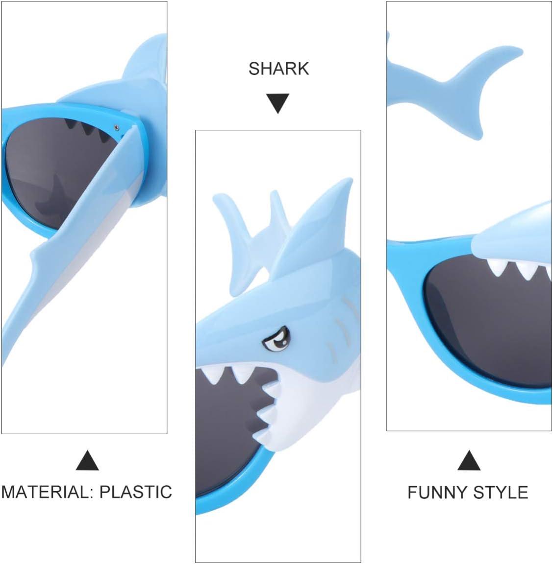 PRETYZOOM 2Pcs Parti Lunettes de Vue D/écoratives en Plastique Requin Animal Enfants Lunettes de Soleil Accessoires Photo Accessoires de Lunettes pour Cotillons D/ét/é Plage Vacances Enfant
