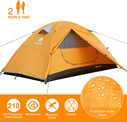 Bessport Ultraleicht Zelte 2-3 Personen 3-4 Winddicht Wasserdicht PU 3000MM+