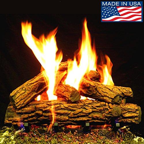 Gas Vented Oak Massive Log - PayandPack Myard 24