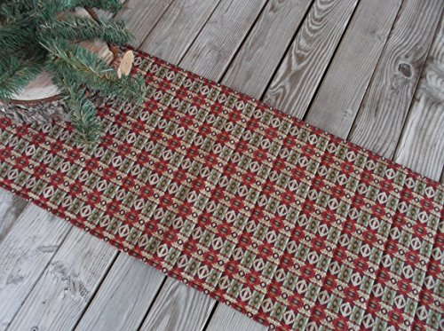 Tan Cabin Quilted Fabric Table Runner or Sideboard Runner 73 inches