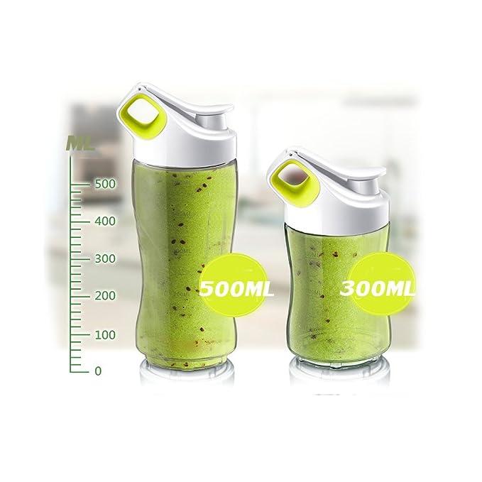DULPLAY Licuadora personal, Smoothie maker, Licuado de frutas eléctrico, (22, 000 RPM), Solo servicio Bpa liberan Tritan 2 botella de deporte -verde ...