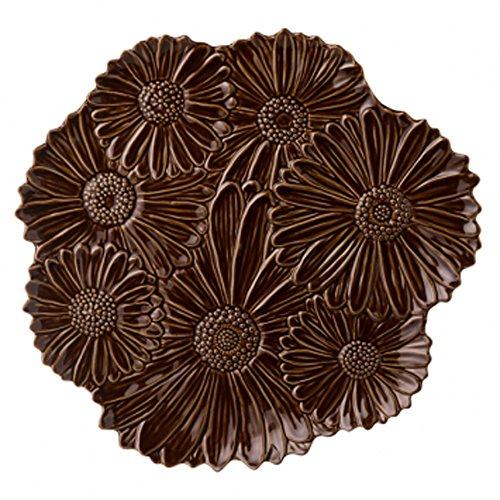 Platter Daisy (Grasslands Road Chocolate Ceramic Spring Meadow Daisy Platter, 14-Inch)