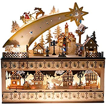nativity scene advent calendar by clever creations wooden 24 day countdown to. Black Bedroom Furniture Sets. Home Design Ideas