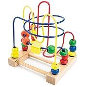 Developmental Wooden Bead Maze Game by Imagination Generation