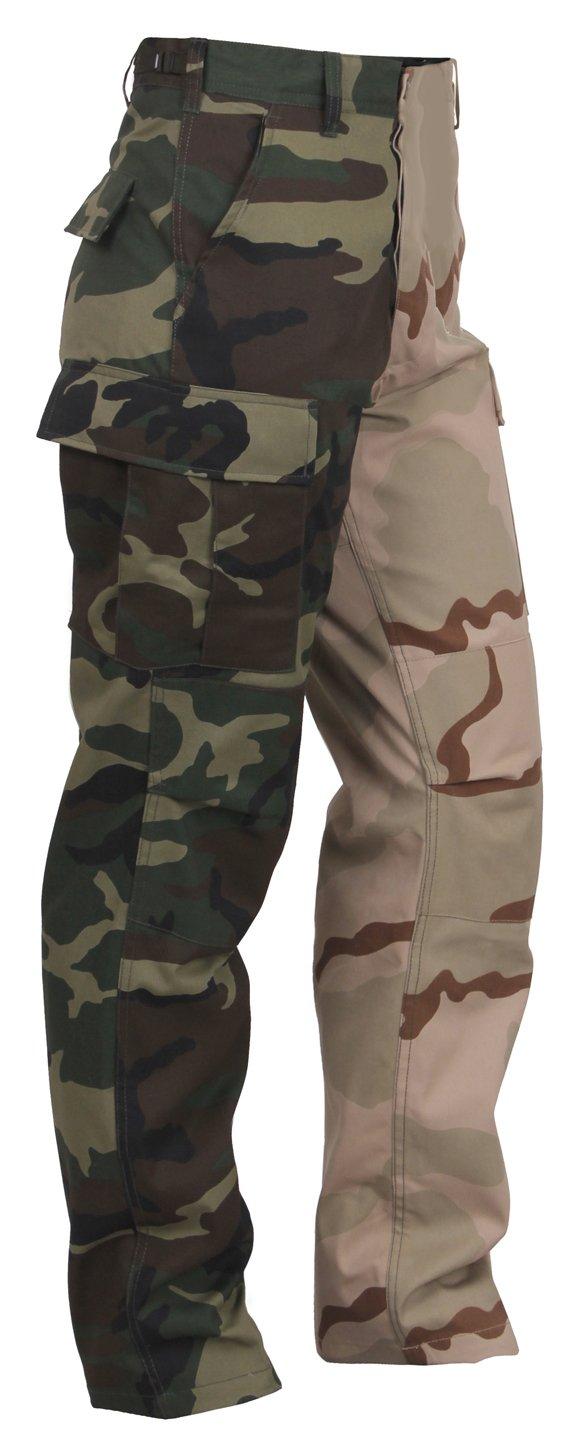Rothco Two-Tone Camo BDU Pants, Woodland/Tri-Color Camo, 2XL