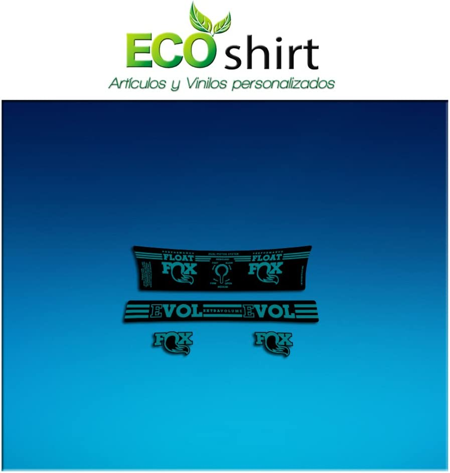 Turquesa Ecoshirt WX-749V-OUWB Pegatina Sticker Shock Fox Performance Series Float Am192 Aufkleber Decals Autocollants Amortiguador