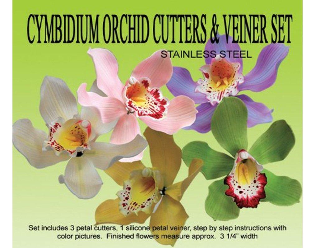 Amazon Cymbidium Orchid Gumpaste Cutter Veiner Set Food