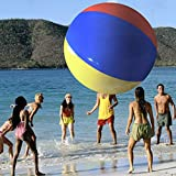 Heavy Duty Jumbo Size 12 Foot Diameter Beach Ball - Comes with Bonus 36 Inch Beach Ball!