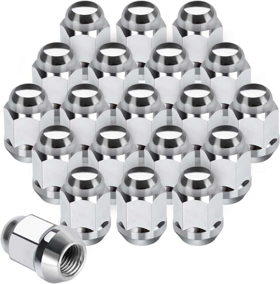 Buyer Needs to Review The spec 20pcs Chrome M12x1.75 Wheel Lug Nuts fit 2008 Lincoln Navigator May Fit OEM Rims