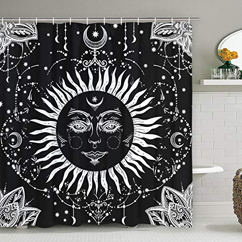 Top 10 recommendation sun and moon shower curtain set 2019