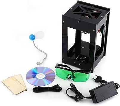 Win10 Win8 2000MW Mini Graveur Machine /à Gravure Laser DIY CNC USB 7/×7cm Lumi/ère Bleu avec Lunettes de Protection 100-240V Outil de Gravure pour Win7 XP