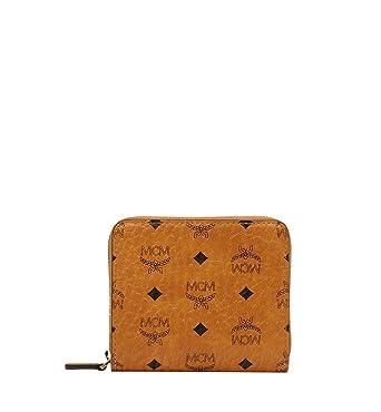 29e5f18fca8d63 MCM Damen Geldbörse Visetos Original Mini Cognac: Amazon.de: Bekleidung