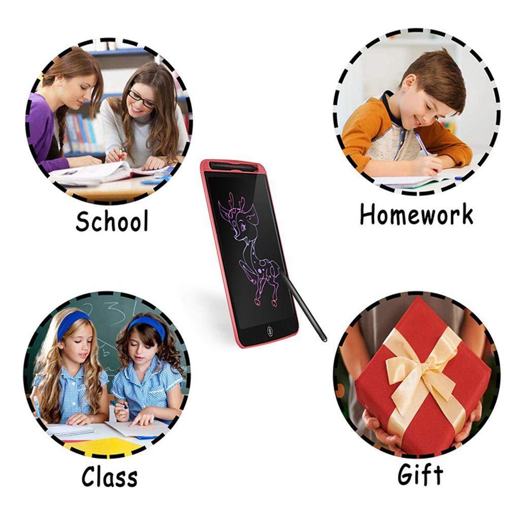 HAMKAW LCD Tablette d/écriture,Tablette Graphique Portable /Électronique LCD,Ardoise Magique effa/çable Tableau,Pad Id/éal pour Prendre des Notes,Dessin,Bureau,/école,Maison,8.5//10//12 Pouces