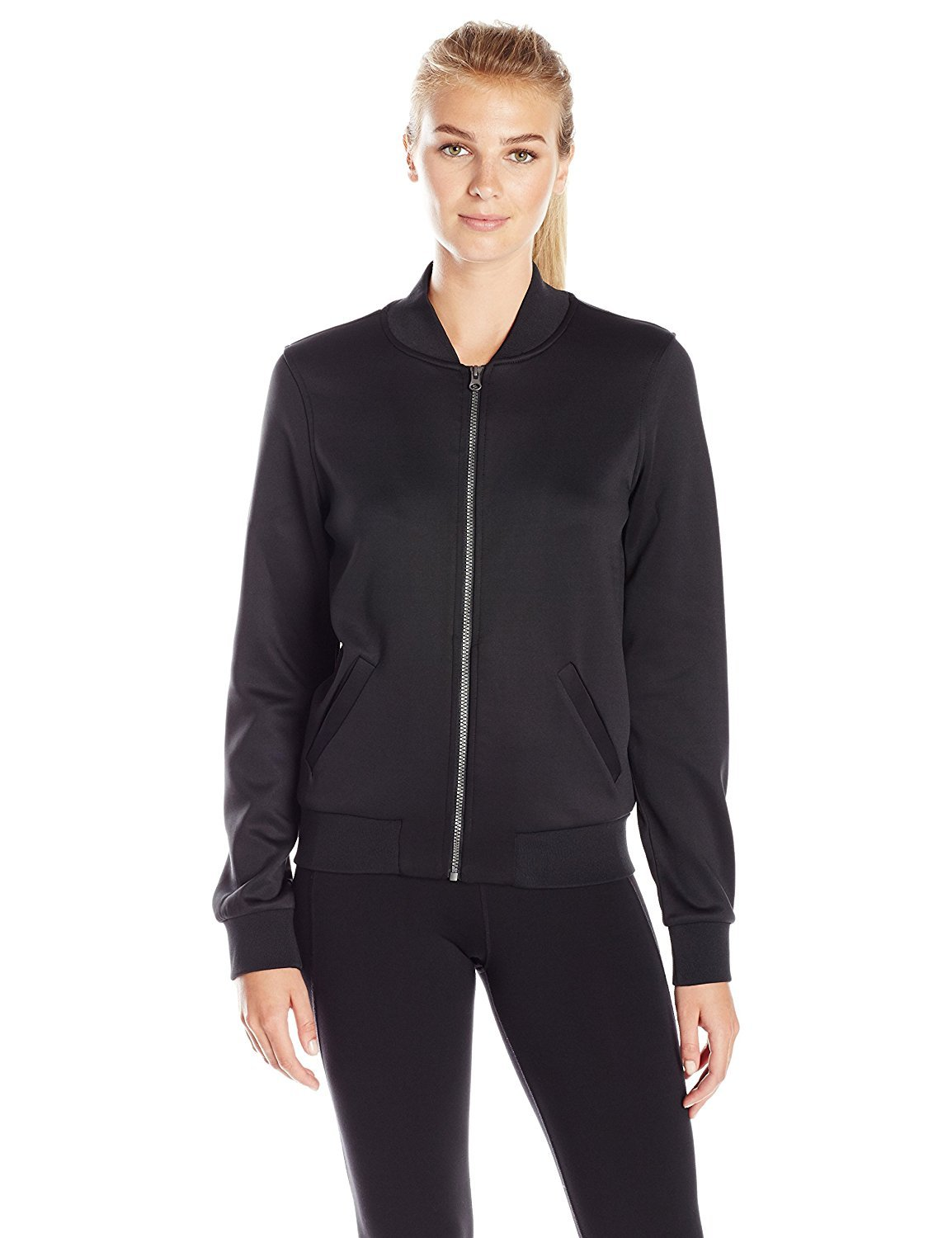 Prismsport Women's Bomber Jacket Black Medium [並行輸入品] B075CDSF8C