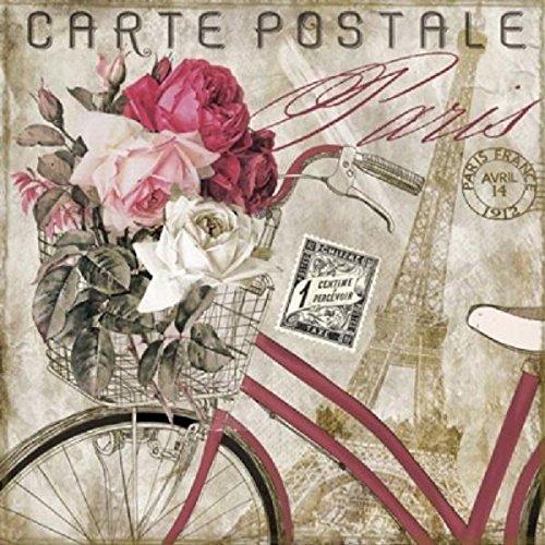 4 x Paper Napkins - Carte Postale Paris - Ideal for Decoupage / Napkin Art Crafty Things