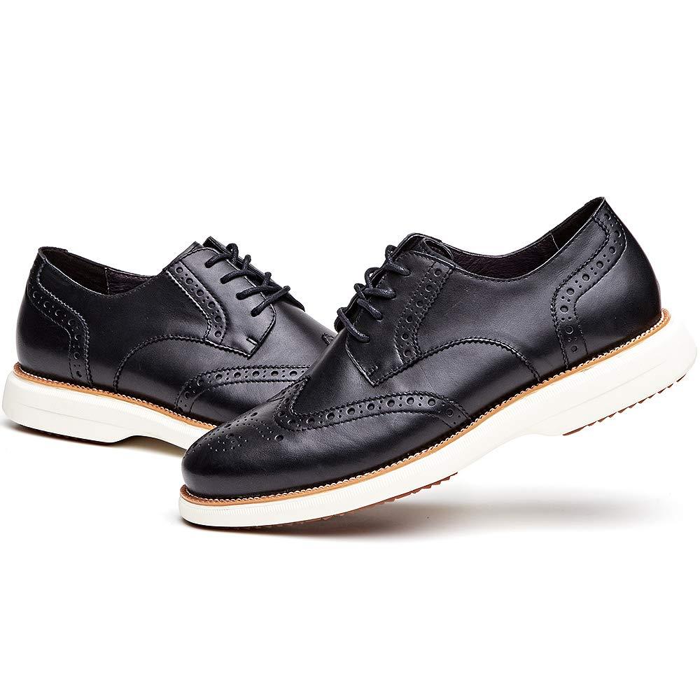 Amazon.com: Zapatos de vestir de piel auténtica con cordones ...