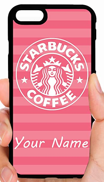 Custom Starbucks Logo Pink Background Message Us Your Name Phone Case Cover Select Model Iphone Xr