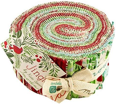Diseñador de cascabeleo Jelly Roll 6,35 cm de tela de algodón que acolcha tiras precortadas surtido Kate España 27210JR por telas: Amazon.es: Hogar