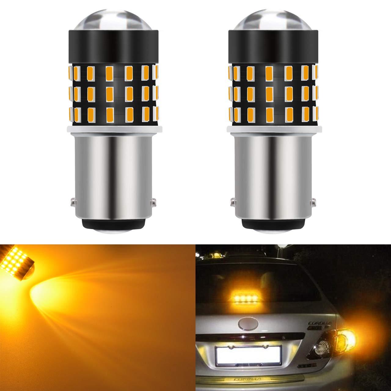 /24/V rosso KaTur 2/super Bright 1157/BAY15d 1016/1034/1196/7528/94/3014/54SMD LED lampadine di ricambio Lens girare freno segnale coda Back up parking zip 3.1/W DC 12/V/
