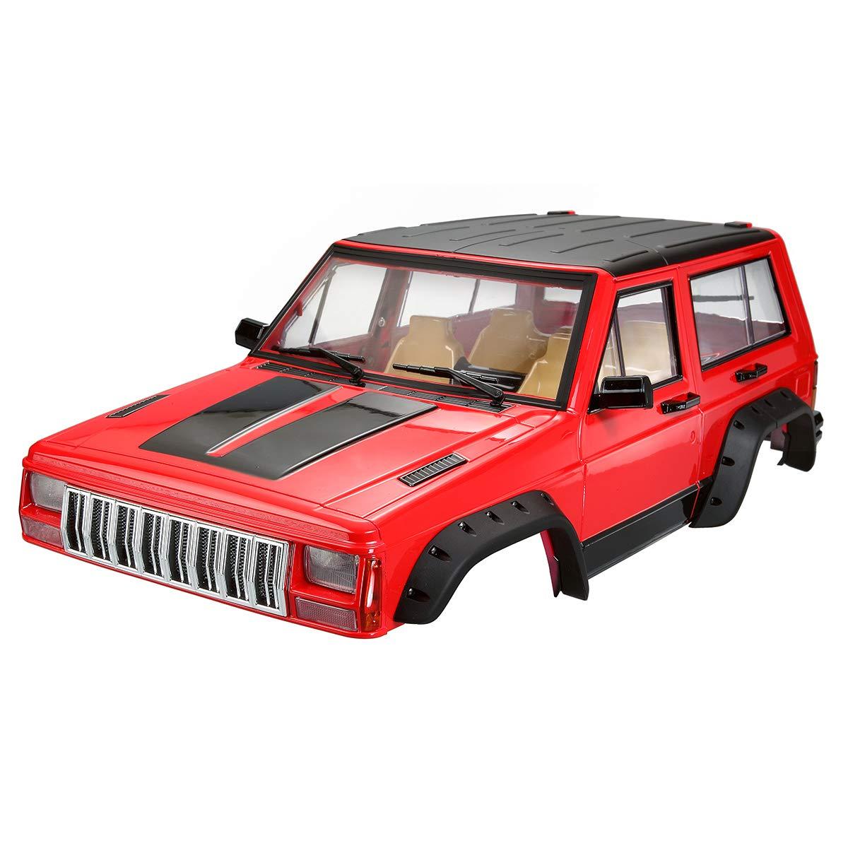 PinShang 313 mm Radstand Autokarosserie-Set Zubehör für Axial SCX10 RC4WD D90 RC Car 1 10 Rock Crawler Teile rot Rot