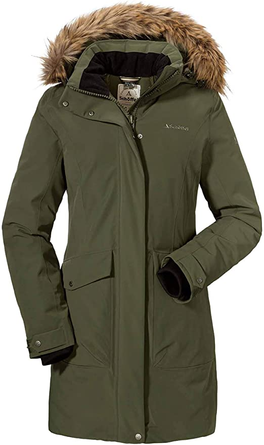 light and breathable winter jacket Sch/öffel Womens Down Parka Storm Range I L Weatherproof and warm