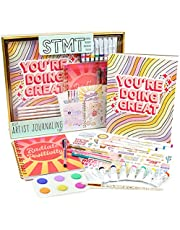 STMT DIY Agenda Set by Horizon Group Usa, Decorate Your Ultimate Planner/Organizer/Diary with Debossed & Regular Stickers, Sticky Notes & Glitter Tape. Gel Pens & Paper Clips Included