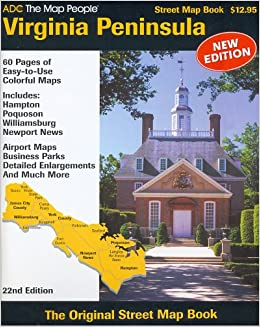 ADC The Map People Virginia Peninsula Street Map Book ADC the Map
