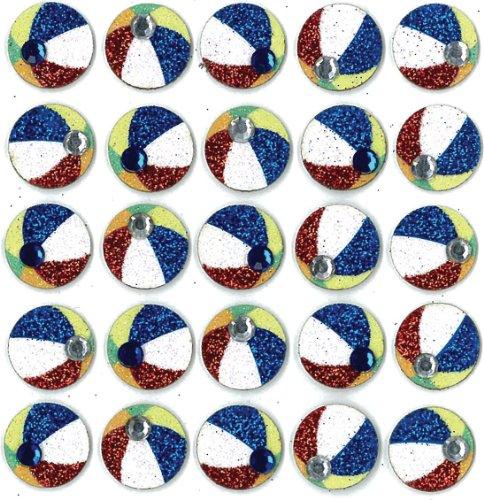 Jolee's Boutique Dimensional Stickers, Beach Balls