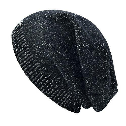 Womens Winter Beanie Hats for Women Winter Fall Knit Wool Hat with Glitter (Hawk Lightweight Hat)
