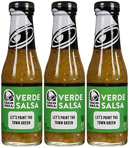 Taco Bell Verde Salsa Sauce-7.5 Oz-3 Pack (Sauce Original Taco)