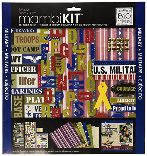 Military Scrapbook Kit (me & my BIG ideas Scrapbook Page Kit, US Military, 12-Inch by 12-Inch)